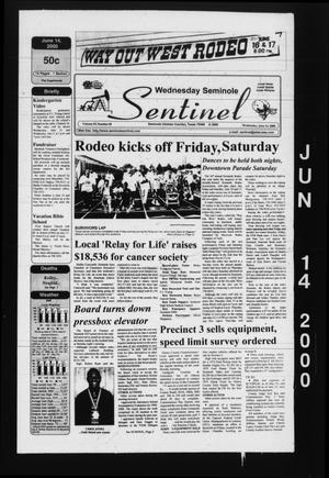 Seminole Sentinel (Seminole, Tex.), Vol. 93, No. 69, Ed. 1 Wednesday, June 14, 2000