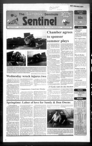 The Seminole Sentinel (Seminole, Tex.), Vol. 92, No. 54, Ed. 1 Sunday, April 25, 1999