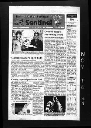 The Seminole Sentinel (Seminole, Tex.), Vol. 88, No. 7, Ed. 1 Wednesday, November 16, 1994