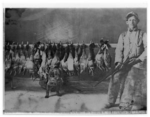 Primary view of object titled 'Hunter with Shot Ducks'.