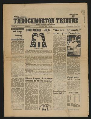 Throckmorton Tribune (Throckmorton, Tex.), Vol. 84, No. 47, Ed. 1 Thursday, July 3, 1975