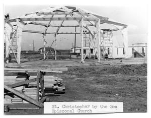 Primary view of object titled '[Episcopal Church Construction]'.