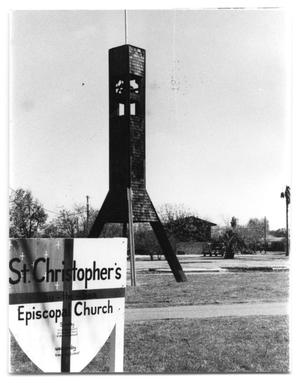 Primary view of object titled '[Episcopal Church after Fire]'.
