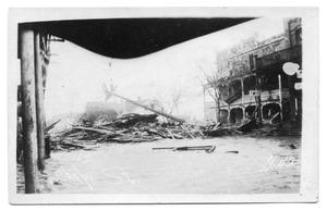 Primary view of object titled '[Storm Damage on Chaparral Street]'.