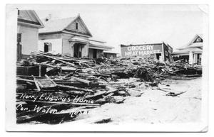 Primary view of object titled 'Residences Damaged by Storm]'.