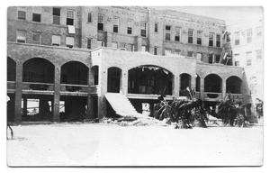 Primary view of object titled '[Storm Damage at Hospital]'.