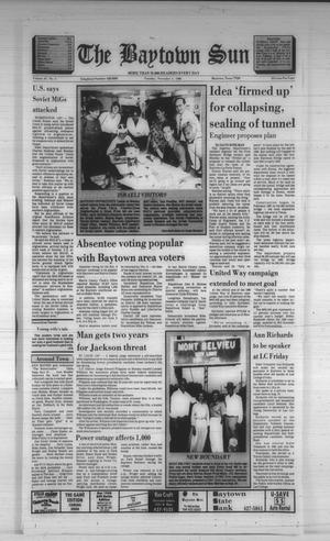 Primary view of object titled 'The Baytown Sun (Baytown, Tex.), Vol. 67, No. 1, Ed. 1 Tuesday, November 1, 1988'.