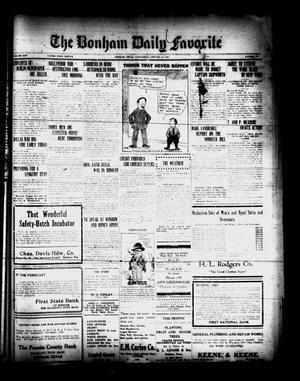Primary view of The Bonham Daily Favorite (Bonham, Tex.), Vol. 25, No. 171, Ed. 1 Wednesday, January 24, 1923