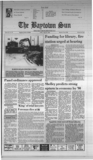 Primary view of object titled 'The Baytown Sun (Baytown, Tex.), Vol. 66, No. 257, Ed. 1 Friday, August 26, 1988'.