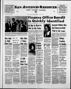 Primary view of San Antonio Register (San Antonio, Tex.), Vol. 43, No. 7, Ed. 1 Friday, August 3, 1973