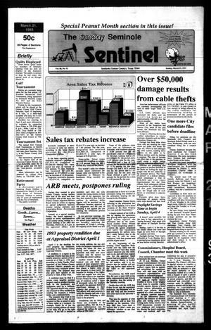 The Seminole Sentinel (Seminole, Tex.), Vol. 86, No. 42, Ed. 1 Sunday, March 21, 1993