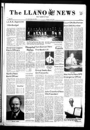 The Llano News (Llano, Tex.), Vol. 92, No. 35, Ed. 1 Thursday, June 30, 1983