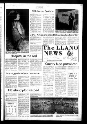 The Llano News (Llano, Tex.), Vol. 92, No. 52, Ed. 1 Thursday, October 27, 1983