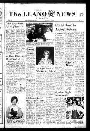 The Llano News (Llano, Tex.), Vol. 92, No. 21, Ed. 1 Thursday, March 24, 1983