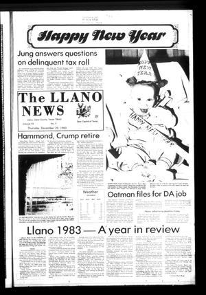 The Llano News (Llano, Tex.), Vol. 93, No. 9, Ed. 1 Thursday, December 29, 1983