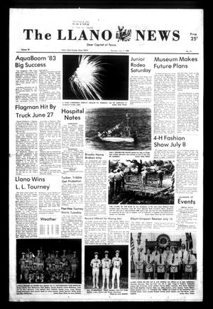 Primary view of object titled 'The Llano News (Llano, Tex.), Vol. 92, No. 36, Ed. 1 Thursday, July 7, 1983'.