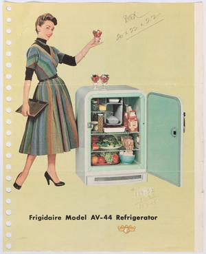 [Advertisement for Refrigerator]