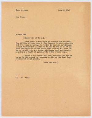 Primary view of [Letter from I. H. Kempner to Thos. L. James, June 18, 1948]