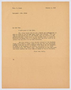 Primary view of object titled '[Letter from I. H. Kempner to T. L. James, January 3, 1948]'.