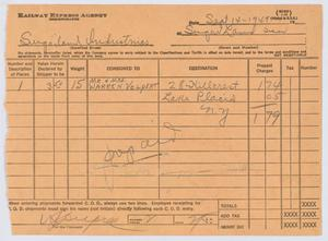 Primary view of object titled '[Receipt  for Express Charges]'.