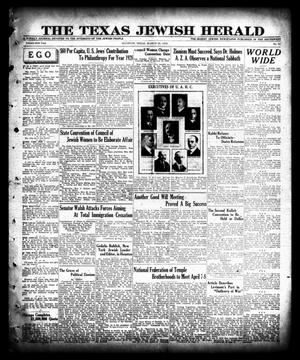 Primary view of object titled 'The Texas Jewish Herald (Houston, Tex.), Vol. 21, No. 51, Ed. 1 Thursday, March 28, 1929'.