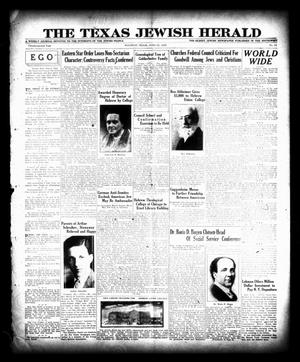 Primary view of object titled 'The Texas Jewish Herald (Houston, Tex.), Vol. 22, No. 11, Ed. 1 Thursday, June 20, 1929'.