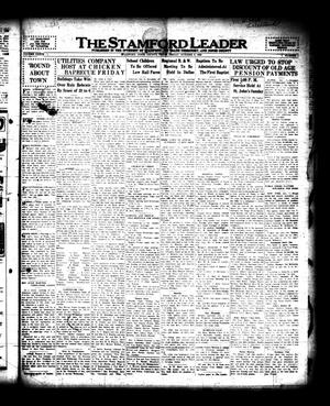 Primary view of object titled 'The Stamford Leader (Stamford, Tex.), Vol. 36, No. 1, Ed. 1 Friday, October 9, 1936'.