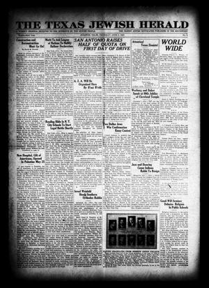 Primary view of object titled 'The Texas Jewish Herald (Houston, Tex.), Vol. 23, No. 8, Ed. 1 Thursday, June 5, 1930'.