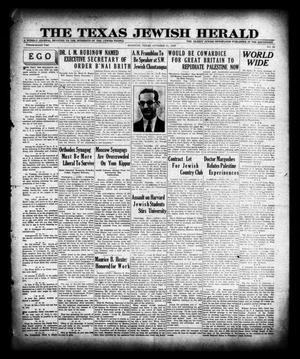Primary view of object titled 'The Texas Jewish Herald (Houston, Tex.), Vol. 22, No. 29, Ed. 1 Thursday, October 31, 1929'.