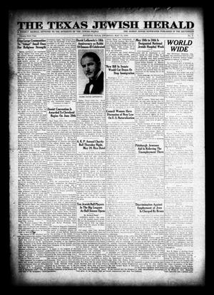 Primary view of object titled 'The Texas Jewish Herald (Houston, Tex.), Vol. 23, No. 5, Ed. 1 Thursday, May 15, 1930'.