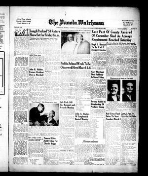 The Panola Watchman (Carthage, Tex.), Vol. 80, No. 11, Ed. 1 Thursday, February 26, 1953