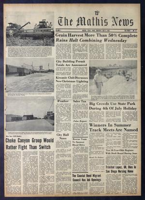 The Mathis News (Mathis, Tex.), Vol. 50, No. 27, Ed. 1 Thursday, July 6, 1972