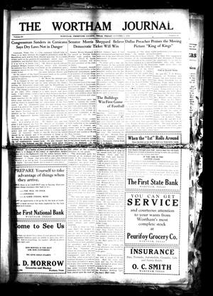The Wortham Journal (Wortham, Tex.), Vol. 30, No. 23, Ed. 1 Friday, October 5, 1928