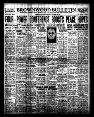 Primary view of Brownwood Bulletin (Brownwood, Tex.), Vol. 38, No. 296, Ed. 1 Wednesday, September 28, 1938