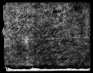 Primary view of [Jasper County, Texas Tax Roll: 1842]