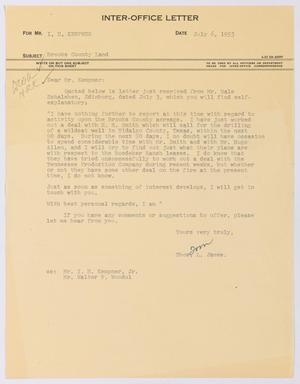 Primary view of object titled '[Letter from Thomas L. James to I. H. Kempner, July 6, 1953]'.