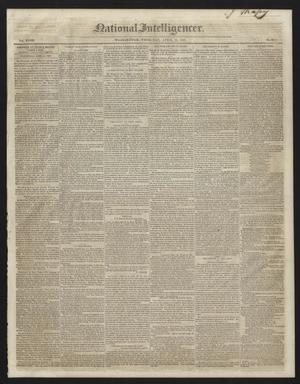 Primary view of National Intelligencer. (Washington [D.C.]), Vol. 48, No. 6912, Ed. 1 Thursday, April 15, 1847