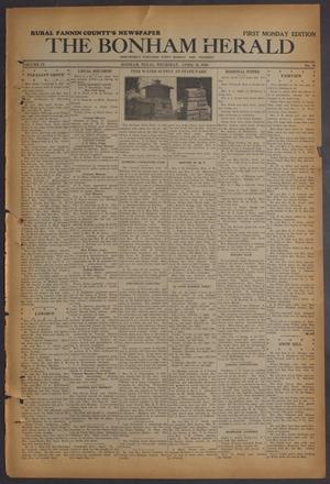 The Bonham Herald (Bonham, Tex.), Vol. 9, No. 70, Ed. 1 Thursday, April 30, 1936