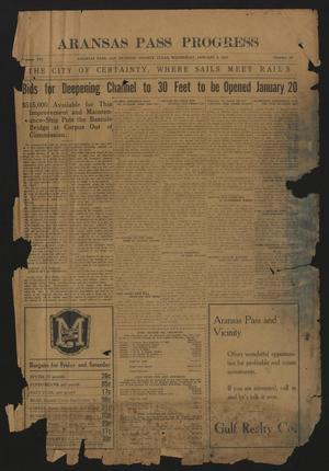 Aransas Pass Progress (Aransas Pass, Tex.), Vol. 21, No. 39, Ed. 1 Wednesday, January 7, 1931