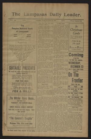 The Lampasas Daily Leader. (Lampasas, Tex.), Vol. 5, No. 1486, Ed. 1 Monday, December 21, 1908