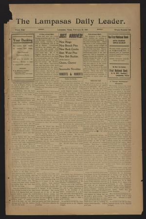The Lampasas Daily Leader. (Lampasas, Tex.), Vol. 3, No. 920, Ed. 1 Monday, February 25, 1907