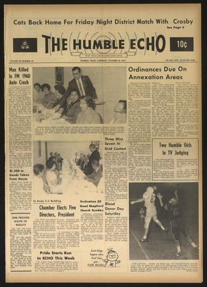 Primary view of object titled 'The Humble Echo (Humble, Tex.), Vol. 28, No. 42, Ed. 1 Thursday, October 19, 1967'.