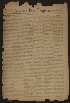 Aransas Pass Progress (Aransas Pass, Tex.), Vol. 5, No. 33, Ed. 1 Friday, November 21, 1913