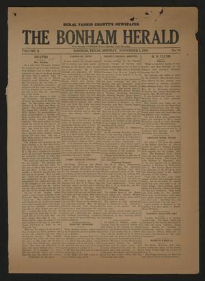 The Bonham Herald (Bonham, Tex.), Vol. 10, No. 19, Ed. 1 Monday, November 2, 1936