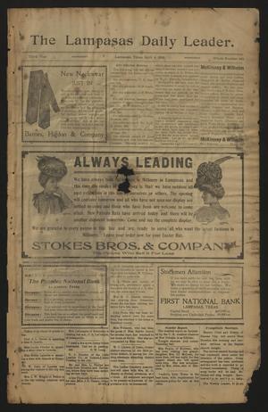 The Lampasas Daily Leader. (Lampasas, Tex.), Vol. 3, No. 643, Ed. 1 Wednesday, April 4, 1906