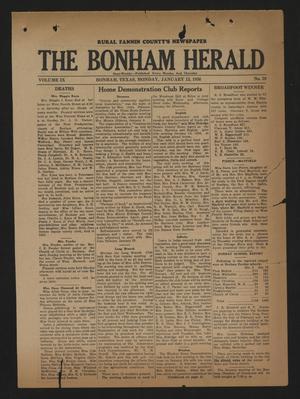 The Bonham Herald (Bonham, Tex.), Vol. 9, No. 39, Ed. 1 Monday, January 13, 1936