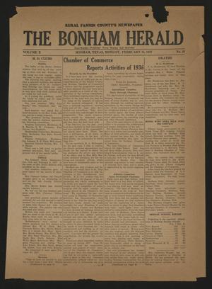 The Bonham Herald (Bonham, Tex.), Vol. 10, No. 49, Ed. 1 Monday, February 15, 1937