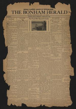 The Bonham Herald (Bonham, Tex.), Vol. 9, No. [48], Ed. 1 Thursday, February 13, 1936