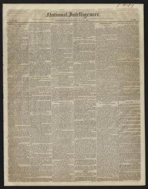 Primary view of object titled 'National Intelligencer. (Washington [D.C.]), Vol. 48, No. 6925, Ed. 1 Saturday, May 15, 1847'.