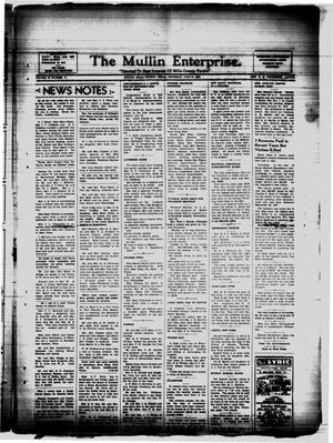 Primary view of object titled 'The Mullin Enterprise. (Mullin, Tex.), Vol. 39, No. 14, Ed. 1 Thursday, June 30, 1938'.